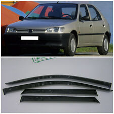 For Peugeot 306 Hb 5d 1993-2001 Side Window Visors Rain Guard Vent Deflectors