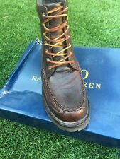 NWB POLO Ralph Lauren Willingcott Leather Boots Black Size 9.5 D