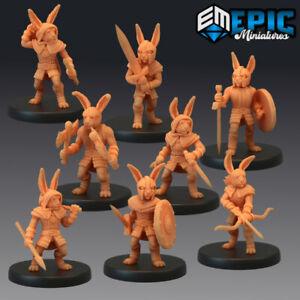 Rabbitfolk Variant Listing by Epic Miniatures, D&D, Pathfinder