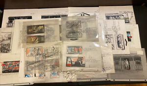 LOT 40+ Pages Of Storyboard Art From Home Nikita Knatz Production Illustrator-