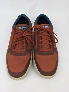 Skechers Relaxed Fit Sneakers Size 13 Brown Rust Burnt Orange Memory Foam Shoes