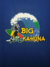 The Big Kahuna Hawaii T-Shirt Rasta Surfer Surfboard Surfing Mens 3XL XXXL Blue