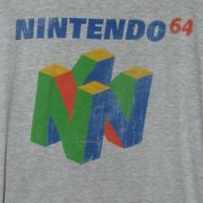 XL Nintendo 64 2016 T-shirt Classic Gaming Console Logo Graphic Tee Heather Gray
