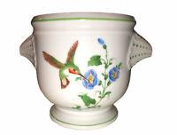 Vintage La Seynie LIMOGES Hand Painted Porcelain Footed Cache Pot/Planter