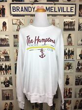 New Brandy melville The Hamptons Yacht Club Anchor Long Sleeve Crewneck top NWT