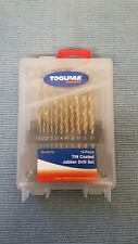 Toolpak 19 Pièce tin Coated Jobber Drill Set