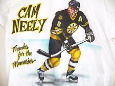Vintage CAM NEELY Thanks For The Memories BOSTON BRUINS NHL T-Shirt Mens XL