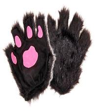 Finger-less Black Cat Paws Gloves Costume Accessory, NEW UNWORN #4240111