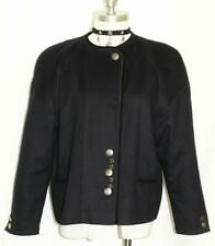 Dark BLUE ~ WOOL Women German CLASSY Dress Suit Skirt Over Coat JACKET 44 14 L