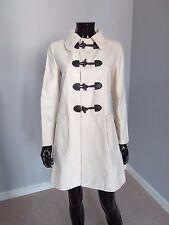 APC designer duffle coat cotton linen natural beige cream sz. 36FR / 10UK