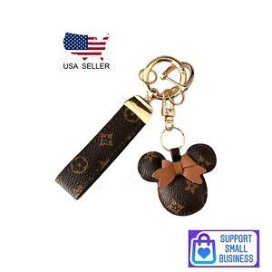 Magical Minnie Mouse Designer Themed Keychain Luxury Keychain Bag Charm USA