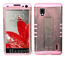 KoolKase Hybrid Silicone Cover Case for AT&T LG Optimus G E970 - Clear Glitter