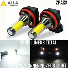 Alla Lighting H8 LED Driving Fog Light,Cornering,DRL Running Lamp 6000K White,2x
