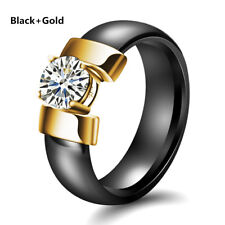 Rings For Women Men Jewelry Gifts Fashion Ceramic Rings Black and White Wedding