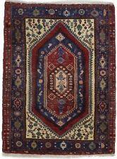 Rare Vintage Geometric Design Small 3X4 Tribal Design Area Rug Oriental Carpet