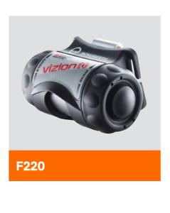 Helmlampe SH-UK 3AAA Vizion [i] ATEX, schwarz mit Helmhalterung f SCHUBERTH F220