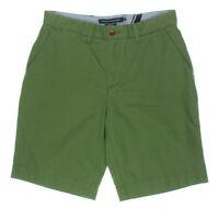 Tommy Hilfiger Shorts Khaki Classic Fit Chino Moss Green Twill Sz 40 NEW Mens