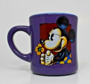 Disney - Purple Minnie Mouse with Flower Ceramic 14 oz. Coffee Mug