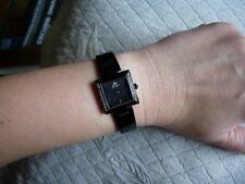 "YONGER ""FOR HER"" STEEL BLACKENED PVD NEW OUT OF THE COMMON SQUARED"