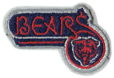 """1980'S CHICAGO BEARS NFL FOOTBALL 2.5"""" SCRIPT WITH PRIMARY TEAM LOGO PATCH"""