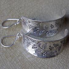 Handmade Flower Earrings Pure Silver Karen Hill Tribe Exquisite