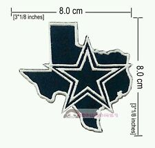 DALLAS COWBOY STAR (MAP) NFL sport Logo embroidery iron-sewing-patch  on fabric