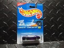 Hot Wheels #595 Purple Corvette Sting Ray III w/7 Spoke Wheels