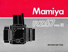 Mamiya RZ67 Pro II Istruzioni per l'uso, Italian, top condition (20078)