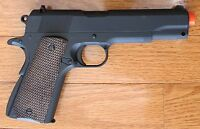 Great Full Metal M1911 Airsoft Spring Pistol W/Open Ejection Port, Active Hammer