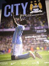 Manchester City v Arsenal Barclays Premier League 2015/2016 Programme
