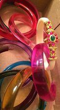 18k on4k Real Yellow gold Ruby Bangle Changable 10 Slip On Bracelet stack India