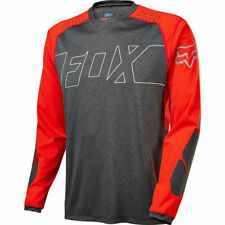 Fox Explore MTB Long Sleeve Jersey - Black/Red- Large (HOT BUY)