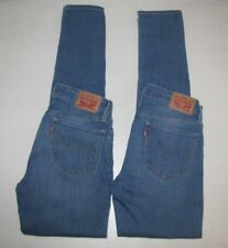 Lot 2 Womens Levis 711 Skinny Stretch Jeans. Size 27 Blue.