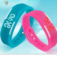 Mens Womens Kids Rubber LED Watch Date Sports Bracelet Digital Wrist Watch NEW
