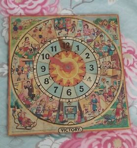 Victory Vintage Wooden Tray Puzzle Telling The Time