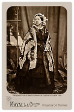 QUEEN VICTORIA 1860 First Public Photograph JJE Mayall Cabinet Card RP