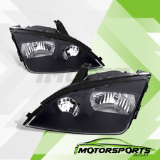 2005 2006 2007 Ford Focus ZX4 Euro Factory Style Black Replacement Headlights