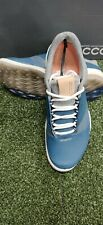 New Women's Ecco Boom Hybrid 3 Softspike Golf Shoes 9-9.5 Denim Blue