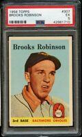 1958 Topps BB Card #307 Brooks Robinson Baltimore Orioles PSA EX 5 !!