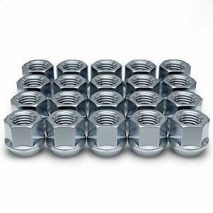 32 LUG NUTS CHROME OPEN END 14x1.5 14x1.5mm 14 x 1.5 CHEVY FORD GM GMC TAHOE