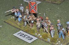25mm ACW / confederate - american civil war inf plastic 15 figs - inf (12573)