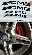 NEW BLACK HI TEMP Set of 4 A.M.G Decal sticker vinyl caliper brake CLK CLS C63