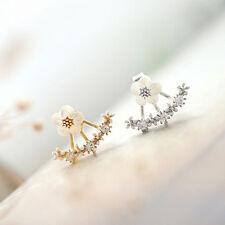 1Pair Women Lady Elegant Crystal Rhinestone Ear Stud Earrings Jewelry,Silver