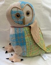 NWT Dora Designs Large Patchwork Barn Owl Doorstop 10""