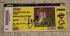 ORIGINAL Autogramm/Fan Ticket: XAVIER NAIDOO. pers. gesammelt. 100 % ECHT. 2019