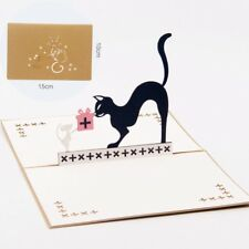 3D Pop Up Greeting Cards Cat Mouse Birthday Children's Day Thank Gift Postcards