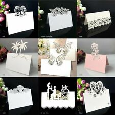 Place Wedding Table Cards Name Party Card Laser Cut Heart Flower 50pcs