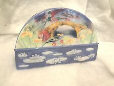 Oriental Garden Floral Toothbrush Holder Ceramic Stand Bathroom Dental Organizer