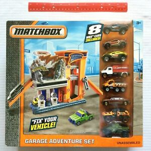 Matchbox Garage Adventure PlaySet w 8 MBX Cars Mechanic 2016 DYY25 NEW & SEALED