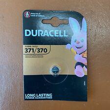NEW Duracell 371 Silver Oxide 1.5 V watch battery D371/370 V371/370 SR69 UK